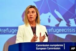 ຫົວໜ້ານະໂຍບານການຕ່າງປະເທດ ຂອງສະຫະພາບຢູໂຣບ ທ່ານນາງ Federica Mogherini