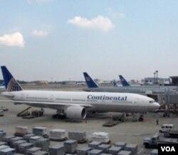 东京成田机场的美国航班
