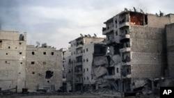 نمایی از شهر حلب در سوریه
