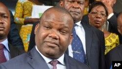 Corneille Nangaa, président de la Commission électorale nationale indépendante (Céni), Kinshasa,27 octobre 2017.