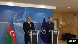 Azərbaycan prezident İlham Əliyev və NATO-nun baş katibi Yens Stoltenberq