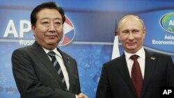 Есихико Нода и Владимир Путин (архивное фото)