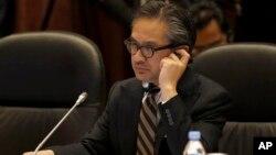 Menteri Luar Negeri Indonesia Marty Natalegawa mengatakan Indonesia tidak dapat menerima dan memprotes keberadaaan fasilitas penyadapan di Kedutaan Besar Amerika Serikat di Jakarta. (Foto: Dok)