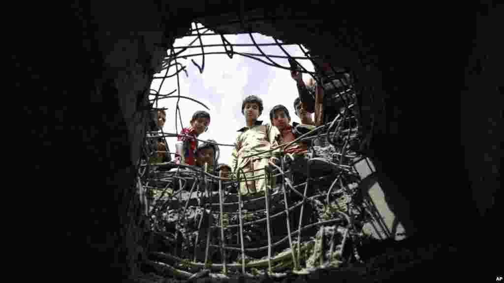 Sano, Yaman - Saudiya Arabistoni bomba xurujlaridan keyin
