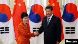 上周在北京亞太經合組織峰會期間,朴槿惠和中國國家主席習近平宣佈兩國已完成中韓自由貿易協定的實質性談判。
