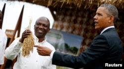 Prezident Obama oziq-ovqat xavfsizligiga bag'ishlangan ko'rgamzada. Senegal, 28-iyun 2013.