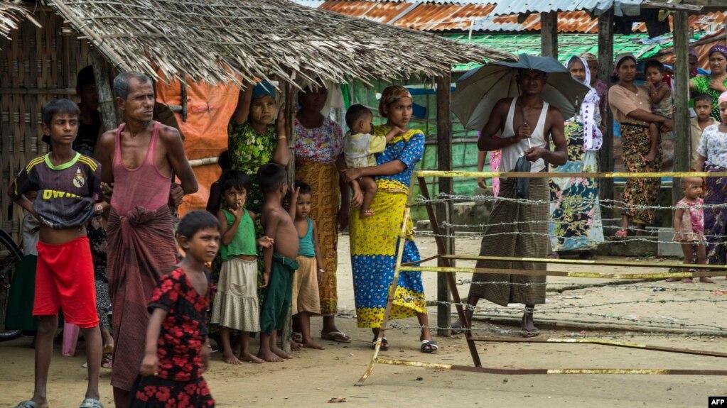 کمپ مسلمانان روهینگیا در ایالت راخین میانمار
