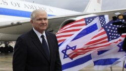 ديدار وزير دفاع آمريکا با نخست وزير اسراييل