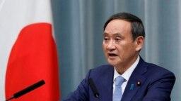 日本首相菅义伟 (资料照:2019年9月11日,当时还是日本内阁官房长的官菅义伟在记者会上讲话。