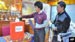 在台藏人20日也参与投票选举西藏流亡政府政治领导人