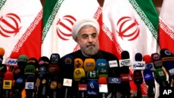Хасан Роухани на пресс-конференции в Тегеране. 17 июня 2013 г.