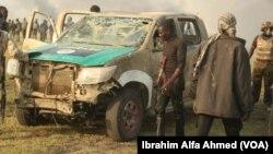 Les troupes nigérianes ont occupé un bastion de Boko Haram à Chikun dans le nord de Borno, Nigeria, 5 mars 2016.