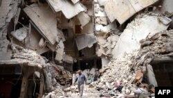 Cảnh tàn phá ở Aleppo, Syria