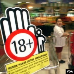 Peringatan sekaligus komitmen penjual dan produsen untuk menjual rokok hanya untuk dewasa (Foto: dok).