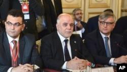 Thủ tướng Iraq al-Haydar Abadi, và liên minh chống IS trong cuộc họp tại Paris, ngày 2/6/2015.