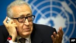 Lakhdar Brahimi, enviador das Nações Unidas e da Liga Árabe para a Síria