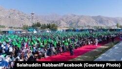 گردهمایی هواخواهان حزب جمعیت اسلامی در فیض آباد - بدخشان