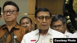 Menkopolhukam Wiranto memberikan keterangan di Jakarta. (Foto courtesy: Kemenkopolhukam)