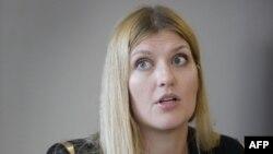 Beatrice Fihn, la directrice de la Campagne internationale pour l'abolition des armes nucléaires (ICAN) le 12 mai 2016 à Genève.