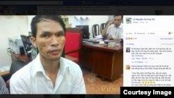 Nghi phạm Nguyễn Thành Dũng hành hạ cậu bé ở tỉnh Mondulkiri, Campuchia và sau đó bị bắt ở thành phố Hồ Chí Minh ngày 07/12/2016. (Facebook screenshot/VOA Khmer)