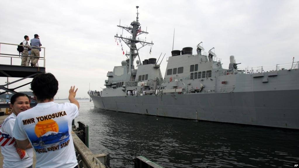 Американский эсминец прошел вблизи российского побережья в Японском море