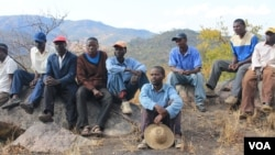 Some MDC-T supporters currently living in a mountainous area in the Muzarabani communal lands, Mashonaland Central Province.