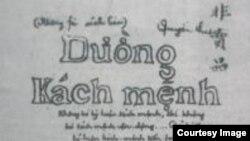 Tác phẩm Đường Cách mệnh của Hồ Chí Minh, ấn hành lần đầu tiên tại Quảng Châu (Trung Quốc), năm 1927, trong đó 'k' được dùng thay 'c'. Theo GS Lân Dũng, cố chủ tịch HCM từng đề nghị thay đổi 1 số chữ cái trong tiếng Việt như dùng 'z' thay cho 'gi.'