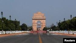 Polusi udara di New Delhi berkurang drastis setelah pemberlakuan lockdown Covid-19 di India.