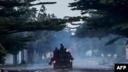 Policiers congolais à Kinshasa en RDC le 20 décembre 2018.