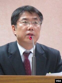 台灣在野黨民進黨立委 黃偉哲(美國之音張永泰拍攝)