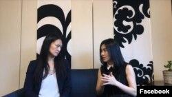 최근 백악관에서 도널드 트럼프 대통령을 만난 탈북자 이현서 씨(오른쪽)가 국무부 민주주의·인권·노동담당국이 매달 제작하는 인터뷰 프로그램 '인권 영웅들'에 출연했다.