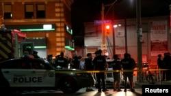 加拿大最大城市多倫多發生槍擊案現場。