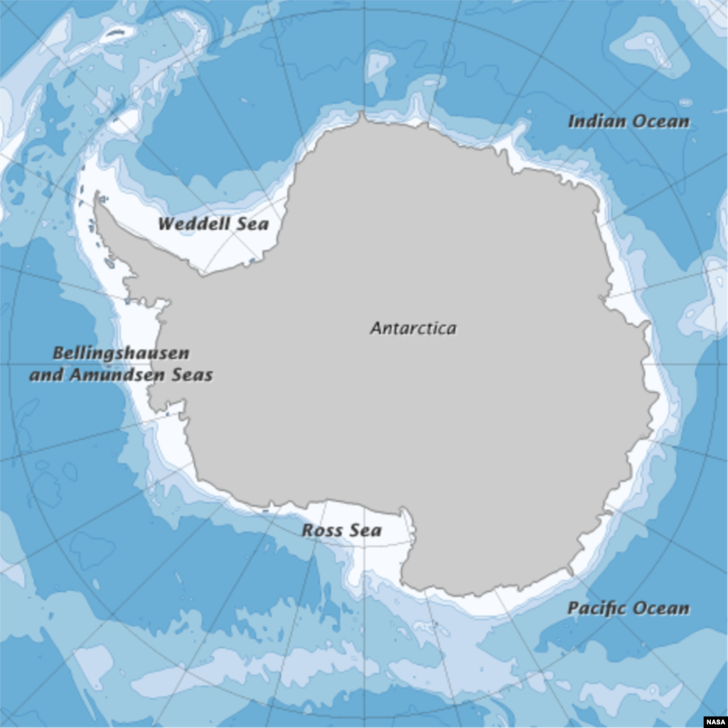 Antarctica is the southernmost continent on Earth. The Antarctic Peninsula on the west coast is warming at unprecedented rates. (NASA map Robert Simmon)
