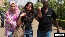 2013年9月21日内罗毕大商场袭击中受伤女子