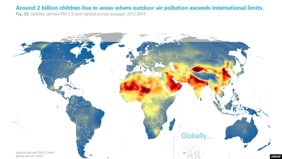 UNICEF: 1 në 7 fëmijë i ekspozuar ndaj ndotjes