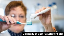 Microbeads are found in cosmetics and personal care products such as toothpaste, sunscreen, hair gel and shower gel. (Credit: University of Bath)