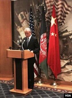 中国驻美大使在欢迎会上致辞
