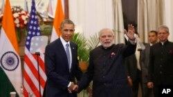 သမၼတိအိုဘားမားနဲ႔ အိႏၵိယဝန္ႀကီးခ်ဳပ္ Narendra Modi (ဇန္နဝါရီ ၂၅၊ ၂၀၁၅)