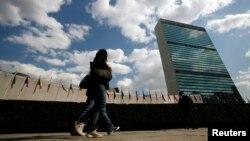 在纽约的联合国总部