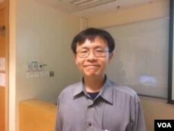 台湾大学国家研究所助理教授李宥霆 (美国之音记者申华拍摄)