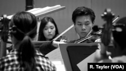 """Juilliard students rehearse for the closing night concert of the 2018 Focus! Festival, """"China Today."""""""