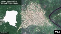 Peta Likati, Republik Demokratik Congo