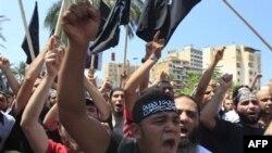 Антисирийская демонстрация в Ливане