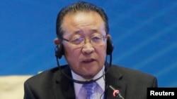 北韓第一副外相金桂冠在北京舉行的紀念六方會談啟動10週年論壇會議上