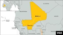 Peta wilayah Mali.
