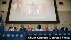 "Panel discussion following the screening of ""Boko Haram: Journey from Evil"" at the United States Institute of Peace, November 2, 2017."