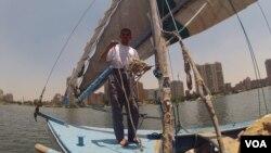 Sailor Mohammed Gamal worries Ethiopia's planned dam will hurt his livelihood, June 10, 2013. (VOA)