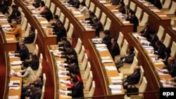Các đại biểu dự phiên khai mạc kỳ họp Quốc hội khóa 13 tại Hà Nội, Việt Nam, ngày 21 tháng 3, 2016