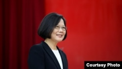台湾总统蔡英文 (台湾总统府提供)