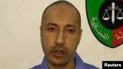 Saadi Gaddafi, putra mendiang pemimpin Libya Muammar Gaddafi, di salah satu ruangan di penjara Tripoli (6/3).